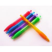 Quality 0.7 or 1.0mm grip promotional pen plastic ball point pen for sale