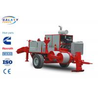 Buy cheap Red Color Transmission Line Equipment Double Cableway Hydraulic Puller from wholesalers
