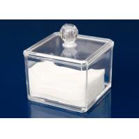 Quality Transparent Plastic Display Stand Cube Box For Makeup With Lid for sale