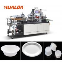 Quality Recycle Paper Plate Making Machine 1880 * 1450 * 1900 Mm Dimension for sale