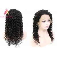 Quality Virgin Brazilian Unprocessed Deep Wave Hair Full Swiss Lace Human Wigs for sale