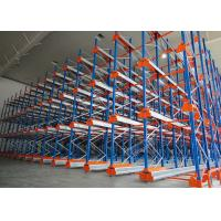 Semi Automatic Heavy Duty Storage Racks 50 Pallets Deep Shuttle Storage System