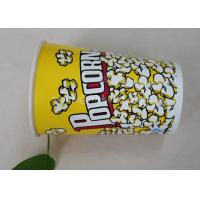 Quality 85oz Custom Printed Paper Cups , Paper Popcorn Boxes Containers OEM Acceptable for sale