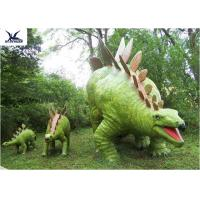 Quality Jurassic Park Outdoor Resin Animal Statues , Artificial Robotic Moving Dinosaur Sculpture Park  for sale
