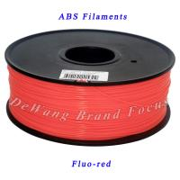 China FluoRed 3D Printer Filaments ABS Consumables 1.75mm Plastic Rubber Material on sale