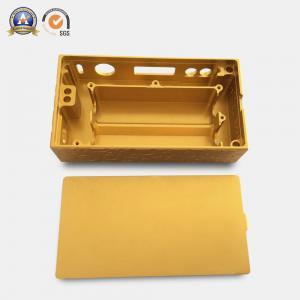 Yellow Coated Cnc Mechanical Parts Electronic Cigarette Aluminum Case