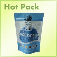 Buy cheap Smart Food Balance Cruch Blue Color Ziplock Stand Up Pouch With Tear Notch from Wholesalers