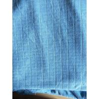 Quality Microfiber Factory Blue Weft Big Grid Car Cleaning Cloth 1.5m Width 320gsm Density for sale