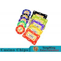 Quality 760pcs 12g Sticker Pure Clay Poker Chip Sets With Number And UV logo for sale