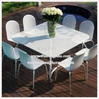 Outdoor dining room table top with tempered toughened for Best outdoor dining rooms