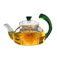 China Smooth Surface Clear Glass Teapot Modern 600ml / 20oz Glass Kettle Teapot on sale