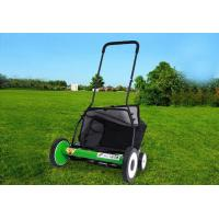 Quality 20 Inch Manual Garden Lawn Mower  With 4 Wheels Cutting Height 34-64mm for sale