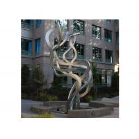 Quality Fluttering Ribbon Abstract Modern Sculpture Abstract Metal Garden Sculptures for sale