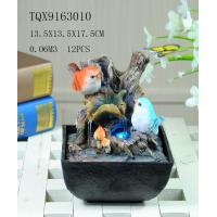 Buy Bird On Bush Resin Small Outdoor Water Fountains With Circling Water Highlight at wholesale prices