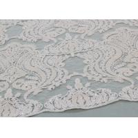 China Ivory Sequin Lace Fabrics , Embroidered Bridal Lace Fabrics For Wedding Dresses on sale