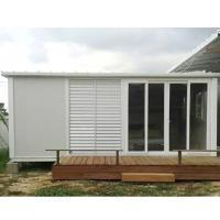 Quality construction site flat pack container house foldable container home for sale