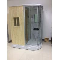 Quality Recantangel Sauna Room Bathroom Shower Cabins 2 Sided Waste Drain / Wooden Room for sale