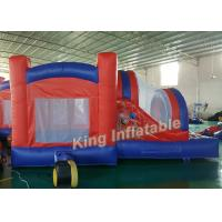 Quality Spider-man Funny Inflatable Jumping Bouncy Castle Outdoor  Red with 0.55mm PVC Tarpaulin for sale
