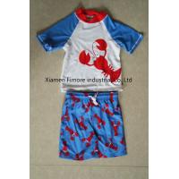 Quality 80%polyamide;20%elasthane boy's swim set for printed surfing wear T-Shirt two piece for sale