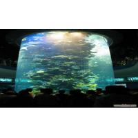 Quality Cylindrical Clear Acrylic Aquarium Tanks / Plexiglass Fish Tank 300mm Thick for sale