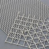 Buy Decorative Crimped Woven 65mn Square Hole Mine Sieving Galvanized Steel Material at wholesale prices