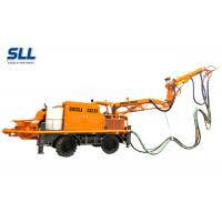 Buy Robotic Telescopic Arm Concrete Pumping Machine For Mine / Tunnel / Construction at wholesale prices