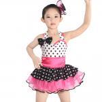 Quality Polka Dots Kids Dance Clothes Multicolor Ballet Spandex Dance Dress for sale