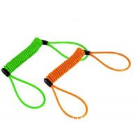 Buy cheap Colorful anti-drop spring steel spiral lanyard w/ big loop ends to protect valuable tools from Wholesalers