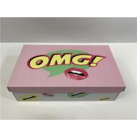 Quality Durable Cardboard Shoe Boxes With Cute Logo Flexible Capacity For Girls Shoes for sale