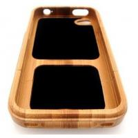 Quality Bamboo Lightweight Polycarbonate Durable Two Piece Case For Iphone 4/4S With Anti Scratch for sale