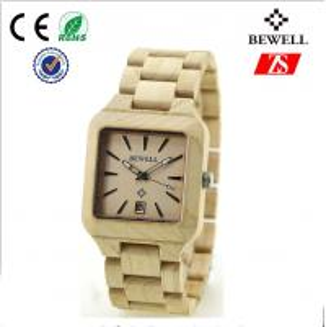 Bewell Wooden Wrist Watch