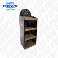 Quality Disassembled Packing Wood 3 Shelving Corrugated Floor Displays for sale