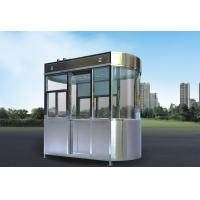 China Stainless Steel Security Guard Booths , Park Security Guard Shack on sale