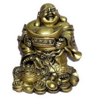 Buy cheap Laughing Buddha Holding Great Golden Ingot for Wealth Feng