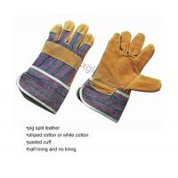Pig split leather working gloves
