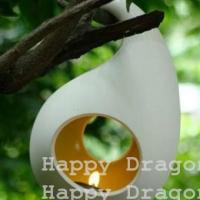 Bag Shape Porcelain Candle Holder