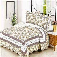 Buy cheap Embroidered quilted bed cover--Yellow from Wholesalers