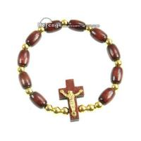 Quality Here: Products + Wood Rosary Bracelet + Hf-a258 Rosary bracelet for sale