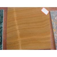 Quality Marble Tile Wood Grain Yellow for sale