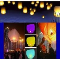 Quality Colorful Custom Fire Sky Lanterns for Birthday Wedding party of 50PCS KONGMING for sale