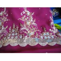 Quality Zari, Zardozi, Tinsel Embroidery for sale