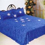Buy cheap Golden velour bedspread from Wholesalers