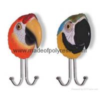 Quality poly resin parrot macaw head wallhooks, parrot macaw for sale