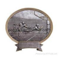 China polyresin sports trophy, trophy awards magnet, wall plaque on sale