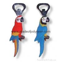 Quality Polyresin parrot bottle opener,polystone parrot opener for sale