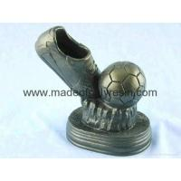Quality Soccer ball sport trophy,polyresin soccer ball crafts,resin soccer ball trophy for sale