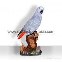 Quality Polyresin African grey parrot crafts/figurine/figure for sale