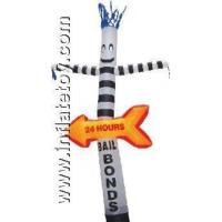 Quality Inflatable Bouncers outdoor point of Arrow dance for sale