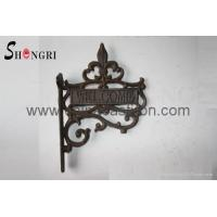 Buy cheap cast iron welcome sign from Wholesalers