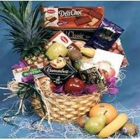 China Fruit and Gourmet Gift Basket on sale